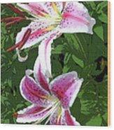 White Lillies 2 Wood Print