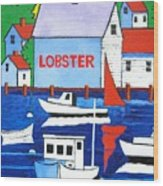White Lobster Shack Wood Print