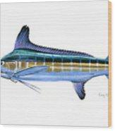 White Marlin Wood Print