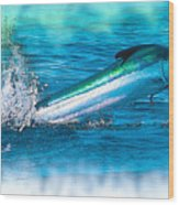 White Marlin -  From The Outer Banks Of North Carolina To Cape M Wood Print