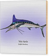 White Marlin Wood Print by Ralph Martens