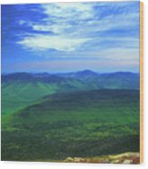 White Mountain Leafout From Franconia Ridge Wood Print