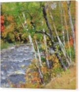 White Mountains Brook Wood Print