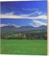 White Mountains From Route 2 Wood Print