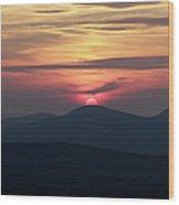 White Mountains Nh - Sunset Wood Print