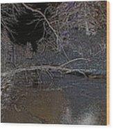 White Night  Wood Print