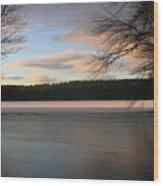 White Oak Pond Wood Print