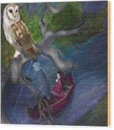 White Owl Magic Wood Print