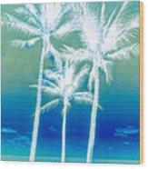 White Palms Wood Print