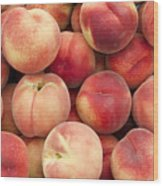 White Peaches Wood Print