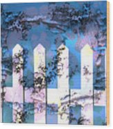 White Picket Fence Wood Print