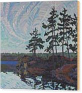 White Pine Island Wood Print