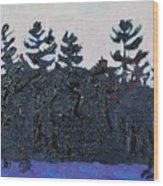 White Pine Sunrise Wood Print