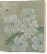 White Primula Wood Print
