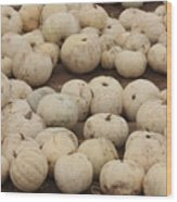 White Pumpkins Wood Print