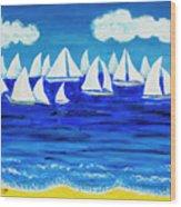 White Regatta 3 Wood Print