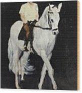 White Ride Wood Print