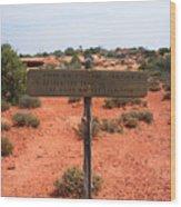 White Rim Overlook Trail Signpost Wood Print