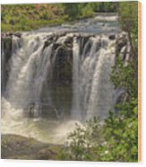 White River Falls Wood Print by Connie Cooper-Edwards