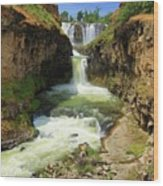 White River Falls D Wood Print