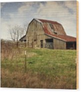 White River Trace Barn 2 Wood Print