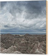 White River Valley Overlook Panorama 2  Wood Print