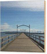 White Rock Pier Moorage In Bc Canada Wood Print