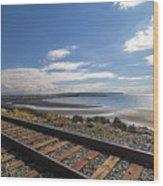 White Rock Promenade In British Columbia Wood Print
