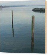 White Rock Water Wood Print