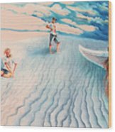 White Sands Family Wood Print