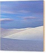 White Sands National Monument, Sunset Wood Print