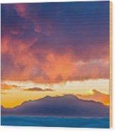 White Sands Panorama Wood Print