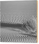 White Sands Ripples Wood Print