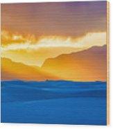 White Sands Sunset 2 Wood Print