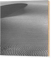 White Sands Sunset Dune Wood Print