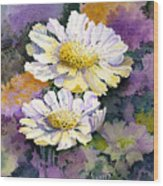 White Scabious Wood Print