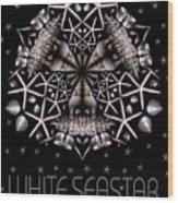 White Seastar Wood Print