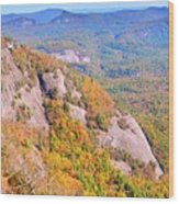 White Side Mountain Fool's Rock In Autumn Wood Print