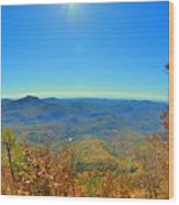 White Side Mountain Nantahala National Forest In Autumn Wood Print