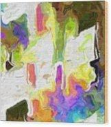 White Space II Wood Print