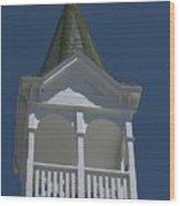 White Steeple Wood Print
