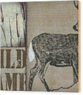 White Tail Deer Wild Game Rustic Cabin Wood Print