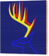 White Taled Deer Wood Print