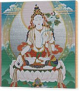 White Tara Chintamani Sita Tara Wood Print