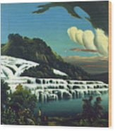 White Terraces, Rotomahana, By William Binzer. Wood Print
