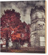 White Tower Of Autumn Wood Print