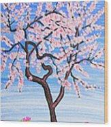 White Tree, Painting Wood Print