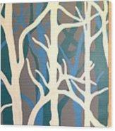 White Trees Wood Print