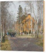 White Trees And Honka Wood Print