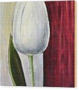 White Tulip Wood Print